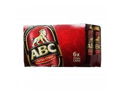 ABC Extra Stout Beer - 6 x 323ml